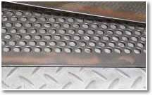 Construction perforated metal - corridor plate