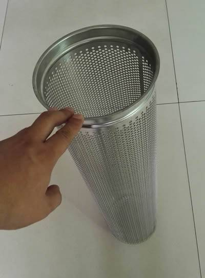 A round hole perforated tube with a closed end is placed on the floor.